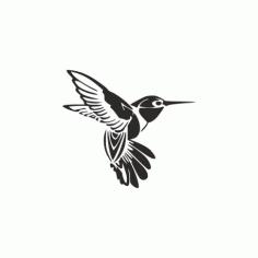 Humming Bird Tattoo Free DXF File
