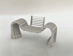 Laser Cut Wooden Sofa Chair Free DXF File