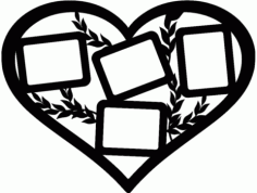 Heart Foto Frame Free DXF File