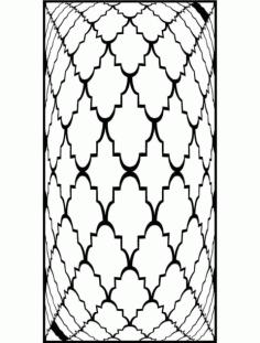 Jali Pattern Design Decor x14 Free DXF File
