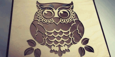 Laser Cut 3mm Wooden Owl Box Free DXF File