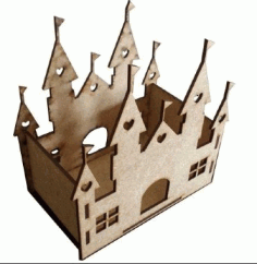 Laser Cut Castle Decoration Free CDR Vectors Art