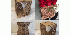 Laser Cut Cube Flowers Decor Free DXF File