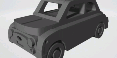 Laser Cut Fiat Nuova 500 Car Free DXF File