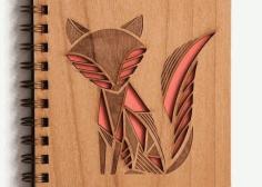 Laser Cut Fox Cover Book Cut In Paper Free DXF File