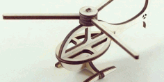 Laser Cut Helicopter Free CDR Vectors Art