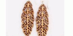 Laser Cut Jewelry Earring Leaf Free CDR Vectors Art