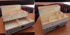 Laser Cut Layout Organizer Three Floors Free CDR Vectors Art