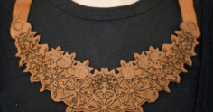 Laser Cut Leather Necklace Free DXF File