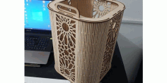 Laser Cut Template Basket With Handles Free DXF File