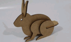 Laser Cut Template Bunny Rabbit Free DXF File