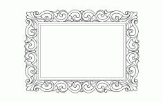 Ayna Square Design Floral Free DXF File
