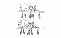 Buffalo Spear Free DXF File