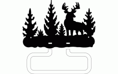 Deer Towel Holder Free DXF File