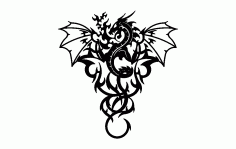 Dragon Wall Free DXF File