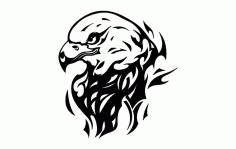 Eagle Flame Tattoo Free DXF File