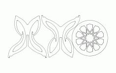 Kelebek Sehpa Art Free DXF File