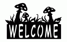Mushroon Group Welcome Free DXF File