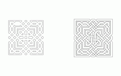 Pattern Pair Art Free DXF File