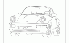 Porsche Car Free DXF File