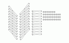 Tabure Sizes Free DXF File