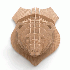 3d Puzzle Amazing Design Bear Free DXF File