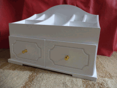 Cnc Laser Cut Design Drawer Table Free DXF File