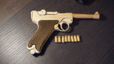 Cnc Laser Cut Design Pistol Model Free DXF File