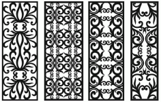 Grill Design Pattern Decoration 1 Free DXF File