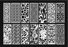Grill Design Pattern Decoration 2 Free DXF File