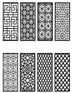 Grill Design Pattern Decoration 7 Free DXF File