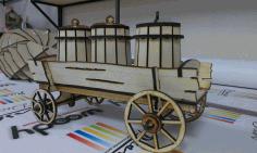 Cnc Laser Cut Design Old Vehicle Free CDR Vectors Art