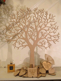Cnc Laser Cut Design Tree And Heart Free CDR Vectors Art