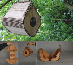 Cnc Laser Cut Design Wooden Bird Box Free CDR Vectors Art