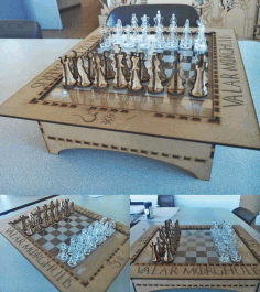 Cnc Laser Cut Design Wooden Chess Free CDR Vectors Art
