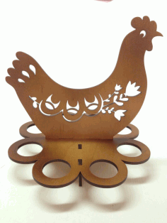 Cnc Laser Cut Design Wooden Hen Free CDR Vectors Art