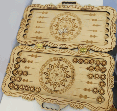 Cnc Laser Cut Design Wooden Mandala Box Free CDR Vectors Art
