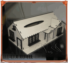 Cnc Laser Cut House Design Free CDR Vectors Art
