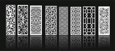 Grill Design Pattern Decoration 3 Free CDR Vectors Art