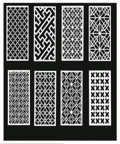 Grill Design Pattern Decoration 8 Free CDR Vectors Art