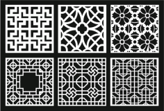 Grill Design Pattern Decoration 10 Free CDR Vectors Art