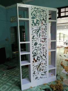 Laser Cut Cnc Project Floral Rack Free DXF File