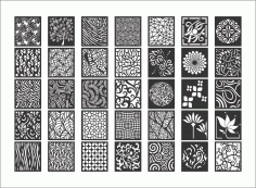Mega Collection Of Decorative Screen Patterns Free DXF File