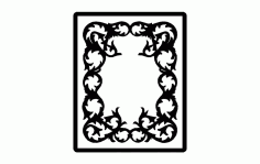 Photo Frame Free DXF File
