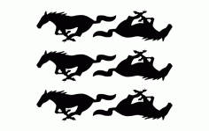 Pony 6 Horses Free DXF File