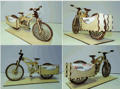 Laser Cut Cnc Project Bicycle View Free CDR Vectors Art