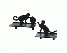 Laser Cut Cnc Project Cat Shaped Rack Free CDR Vectors Art