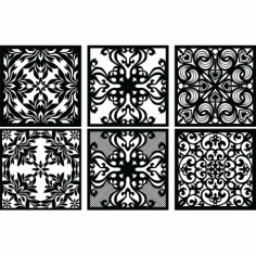 Laser Plasma Router Grille Patterns Design f66 Free DXF File