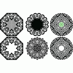 Laser Plasma Router Round Pattern d13 Free DXF File