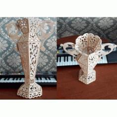 Laser Wood Engraving Decorative Vase Free DXF File